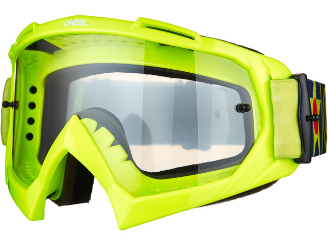O'Neal B-10 Lunettes de protection, warhawk neon yellow/black-clear